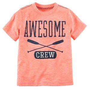 Carter's - Neon Awesome Crew T-shirt (NWT)